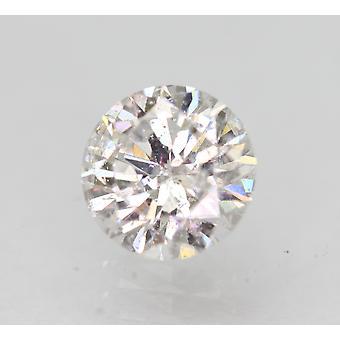 Sertifioitu 0,71 karat E SI1 pyöreä brilliant parannettu luonnollinen löysä timantti 5,73mm