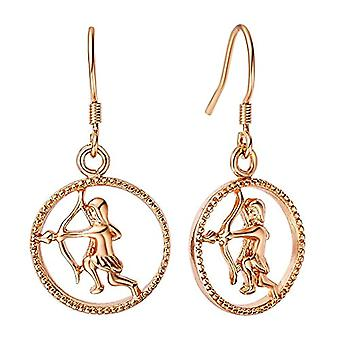 Autiga, earrings with zodiacal sign of water, women's and metal base, color: Sagittarius rose gold, cod. 4124-37977