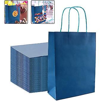25 Stücktüten aus Kraftpapier, Papiertüten mit Henkel, Geschenktüten, Geschenktüten Papier