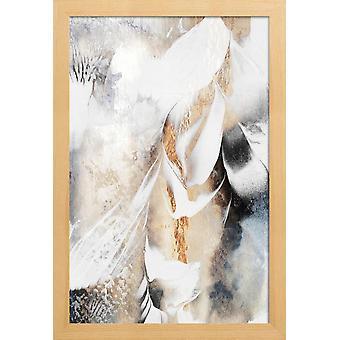 JUNIQE Print - Lindre din sjæl - Abstrakt &geometrisk plakat i gråt &hvid