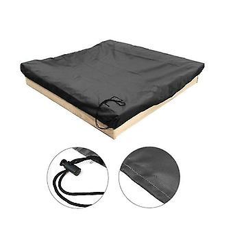 200 * 200 Svart sandkassedeksel med snorerquare støvtett strand sandkasse deksel vanntett sandpit svømmebassengdeksel x26