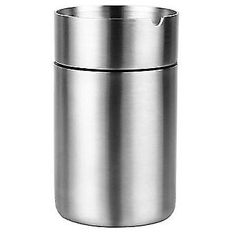 Large stainless steel car ashtray with lid x1072