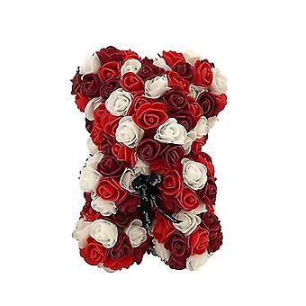 الأحمر 1 # عيد الحب هدية 25 سم ارتفع دب هدية عيد ميلاد £ ذكرى هدية اليوم دمية دب az6105