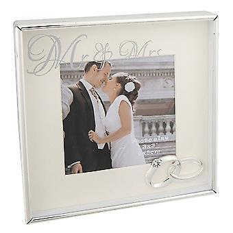 Joe Davies Spegelmeddelande 3 X 3 Herr & Mrs Photo Frame 285650