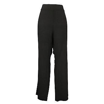 IMAN Global Chic Women's Jeans Plus Slim Boot Cut Pant Black 722609001