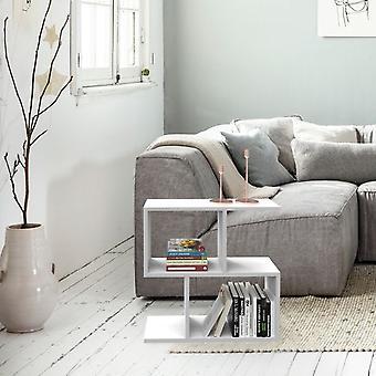 Tavolino da Caffe' Dalga, Colore Bianco in Truciolare Melaminico, L60xP20xA60 cm