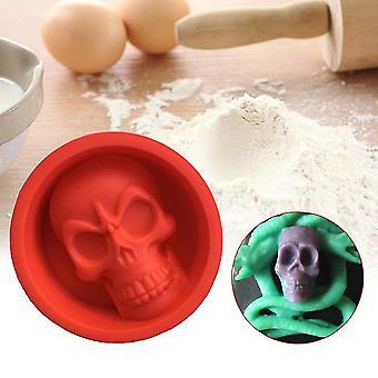 Diy Skull handgemaakte siliconen cake fondant schimmel zeep schimmel maan cake bakken tools