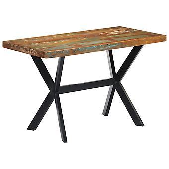 vidaXL طاولة الطعام 120x60x75 سم الخشب المستصلح الصلب