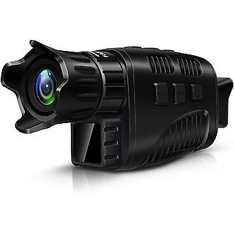 """Monokulárne digitálne infračervené nočné videnie, IR zariadenie nočného videnia pre lov vtákov s 1,5 """"TFT LCD, teleskop nočného videnia s 1M HD fotografiou a 960P videom z dosahu 300m,(čierna)"""