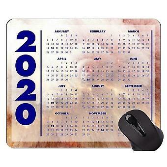 (260x210x3) 2020 Galaxy Calendar Custom Original Mouse Pad,Magical Space Themed Mouse Pad With