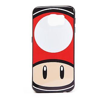 Super Mario Bros. Toad Mushroom Face Phone Cover für Samsung S6