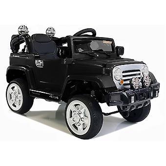 Elektrisch bestuurbare kinder jeep - zwart - tot 3 jaar oud