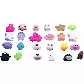 24pcs Christmas Advent Day Animal Squeeze Toy Set Gift Box
