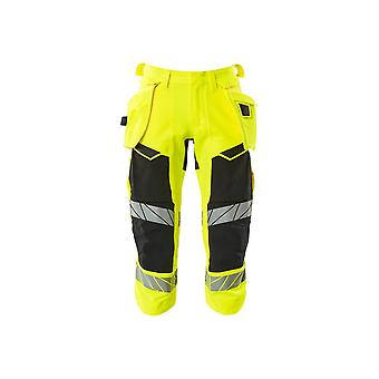 Mascot 3/4 length hi-vis trousers with holster pockets 19049-711 - mens, accelerate safe