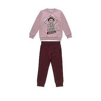Alouette Girls' Five Star Form T-Shirt With Print And Trousers