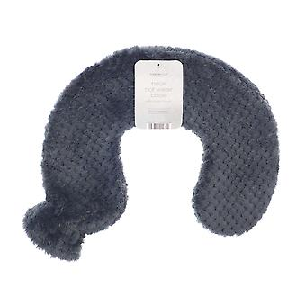 Country Club Plush Neck Hot Water Bottle, Grey