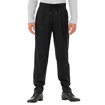 Emporio Armani Hombre Pantalones Tobillo Largo Negro