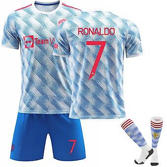 Red Devils Home No. 7 C Ronaldo Blue Jersey Suit Football Jersey