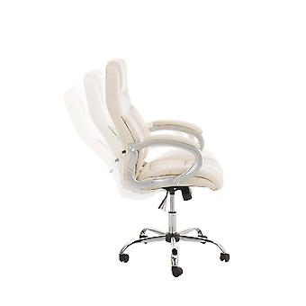 Office Chair - Desk Chair - Home Office - Modern - Beige - Metal - 66 cm x 70 cm x 113 cm