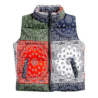 Seeunique Men's Outdoor Casual Stand Collar Padded Vest Coats