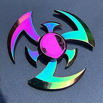 Spinning tops anti stress fidget rainbow modern futuristic metal finger spinner 36