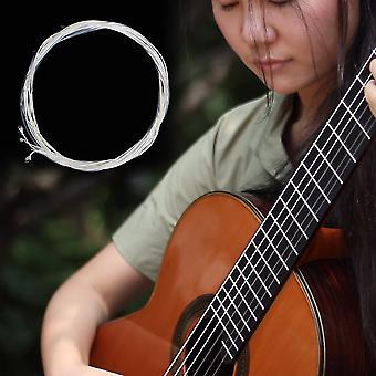 Прозрачные и серебряные нейлоновые серебряные струны набор для классической классической гитары 1m 1-6 E B G D A E