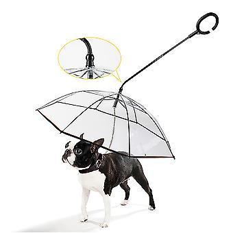 Pet Umbrella Dog Dog C Shaped Umbrella Rainy Day Dog Walking Leash