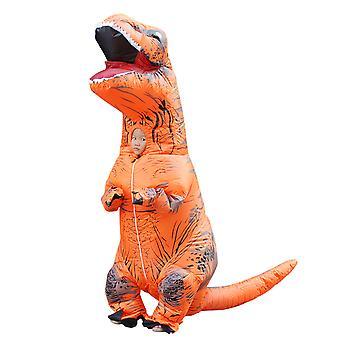 Orange Children Tyrannosaurus Rex Inflatable Clothing Children's Dinosaur Costume