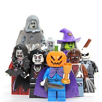 Halloween Vampire Pumpkin Minifigure Toyset