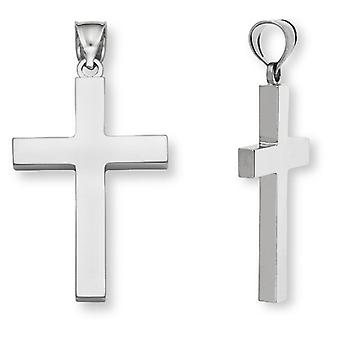 Herren Sterling Silber Plain Kreuz Anhänger
