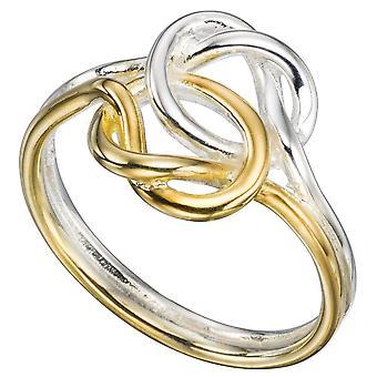 925 de plata anillo de moda plateado oro
