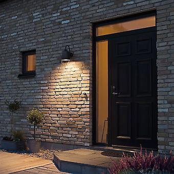 Konstsmide Vicenze diskret svart vegg skive veggen lys plate