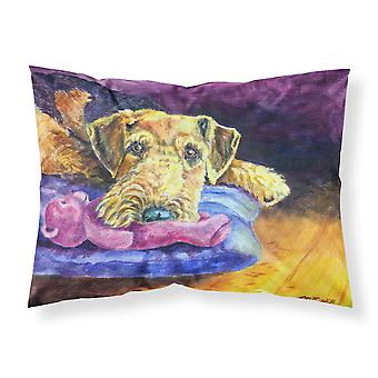 Airedale Terrier Teddy Bear Fabric Standard Pillowcase