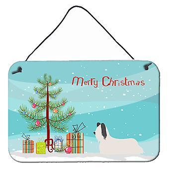 Skye Terrier Christmas Wall or Door Hanging Prints