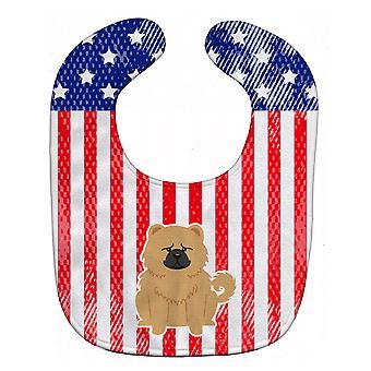Каролинских сокровища BB3139BIB патриотических США Чау кремового ребенок нагрудник