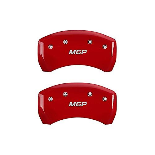MGP Caliper Covers 16077SMGPRD 'MGP' Engraved Caliper Cover with Red Powder Coat Finish and Silver Characters, (Set of 4