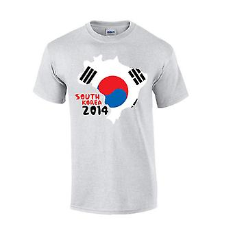 South Korea 2014 Country Flag T-shirt (grey)