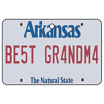 Arkansas - bästa mormor licens plattan bil luftfräschare
