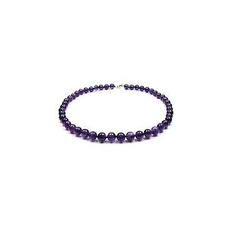 Purple and Silver Pearl Shave Women's Necklace 925 886