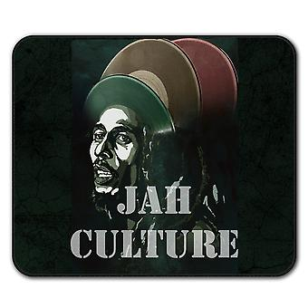 Jah Marley musikk Rasta sklisikre musematte Pad 24 cm x 20 cm | Wellcoda