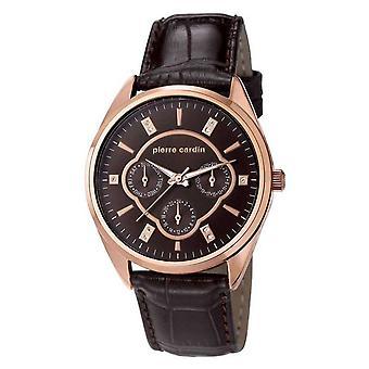 Pierre Cardin ladies watch wristwatch Bayan leather PC107182F04