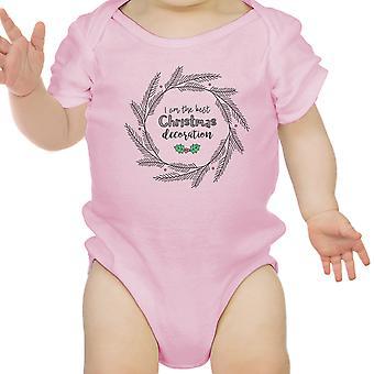 Ik ben de beste Kerstmis decoratie schattige Baby Romper eerste kerst