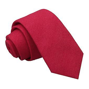 Scarlet punainen Panama Cashmere villaa ohut Tie