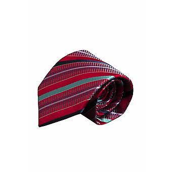 Red silk tie V56