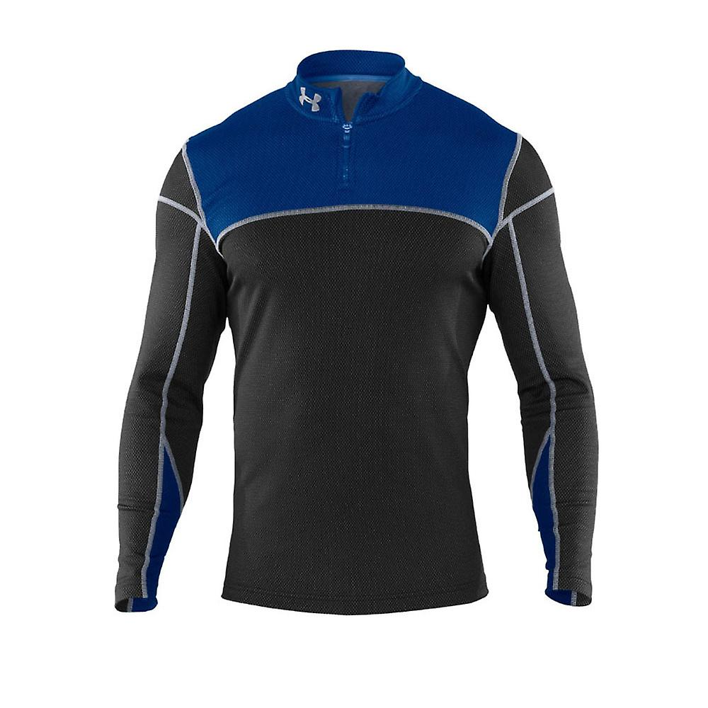 UNDER ARMOUR Coldgear Thermo 1/4 Zip Longsleeve Top [black/ blue]
