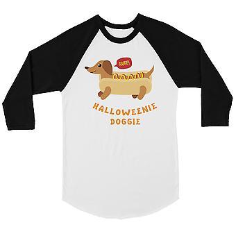 قميص رجالي البيسبول الكلب هالوويني