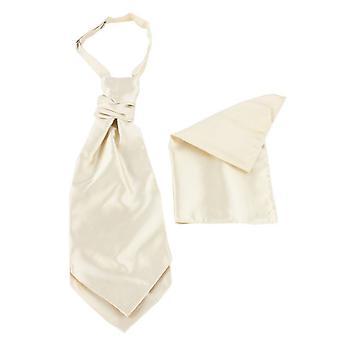 Knightsbridge Neckwear Cravat og Pocket Square sett - gull