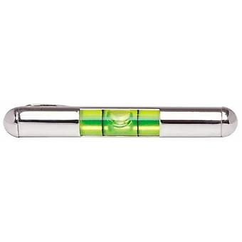 David Van Hagen Spirit Level Tie Slide - Silber / Grün