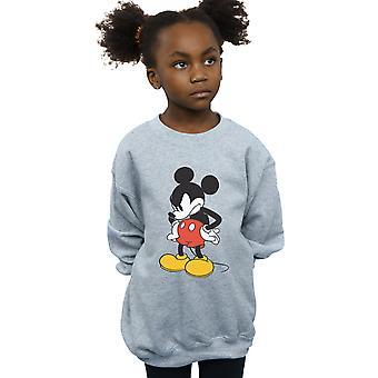 Disney девочек Микки Маус сердитый взгляд вниз Толстовки