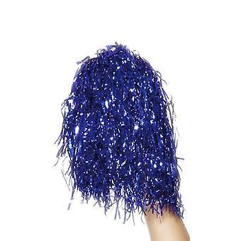 Pom Poms Metallic-Blau.